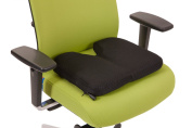 AirCare ErgonomicsTM Air Release Infinitely adjustable Foam and Air Seat Cushion with Coccyx Cut Out use as a Seat Pad, Chair Pad, Chair Cushion, Office Cushion, Car Cushion, Stool Cushion. Breathable washable 3D mesh cover.