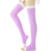 Butterme Women's Overnight Thigh High Slimming Compression Toeless Socks Yoga/Sleep Legging Stocking