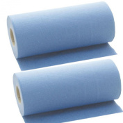 2 x Blue Desk Massage Couch Bed Rolls 2 Ply. Hygiene Roll. 24cm (24 Centimetres) Wide x 50 metres Long From Simply Direct