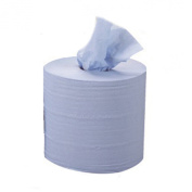 Blue Multi Purpose Embossed Centrefeed Hygiene Roll. Cleaning Wipes, Cloths, 2 Ply 130 metres Long 60mm Splitable Core From Simply Direct