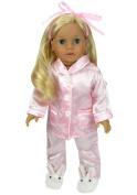 46cm Doll Pyjamas Pink Satin Pj's, Fits 46cm American Girl Dolls