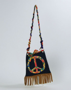 Hippy Handbag Bag Accessory for Hippie 60s 70s Fancy Dress Bag