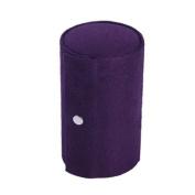 TinkSky Retro Cylinder Shaped Three-Layer Mini Velvet Roll-up Snap Jewellery Storage Box Case Holder Organiser