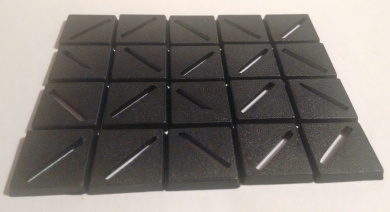 Plastic Wargaming Base Roleplay 25mm x 25mm Slot x 20