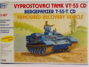 SDV Plastic Model Kit 1/87 H0 Armoured Recovery Vehicle VT-55-T CD