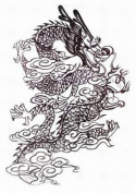"""GGSELL Extra large dimension Length 12.6 X Wide 22cm black and white dragon temporary tattoos for full back for men"""""""