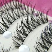 Sanwood® 10 Pairs Natural Long False Eyelashes Makeup Tool