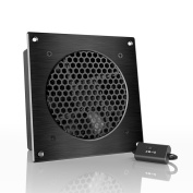 AC Infinity AIRPLATE S3, Quiet Cooling Fan System with Speed Control, for Home Theatre AV Cabinet Cooling