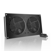 AC Infinity AIRPLATE S7, Quiet Cooling Fan System with Speed Control, for Home Theatre AV Cabinet Cooling