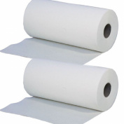 2 x White Desk Massage Couch Bed Rolls 2 Ply. Hygiene Roll. 24cm (24 Centimetres) Wide x 50 metres Long From Simply Direct