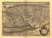 Reproduction Antique Map of Hungary, by Abraham Ortelius A1 Size 78 x 57 cm