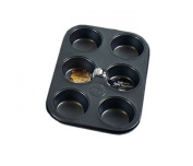 Non Stick 6 Cup Muffin Tray Deep Strong & Durable Material 26 x 3cm from Royle Home