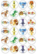 24 RaaRaa The Noisy Lion Edible Wafer Paper Cup Cake Toppers Raa