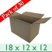 "30 x Thick Removal Packaging Storage Cardboard Boxes - Double Wall - 18 x 12 x 12"" / 457 x 305 x 305mm"