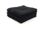 60 X BLACK BLEACH PROOF HAIRDRESSING TOWELS/ SALON TOWELS / BEAUTY TOWELS , 400GM, 50 X 85CM