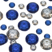 Pack of 350 Mixed Size Blue & Clear Table Crystals