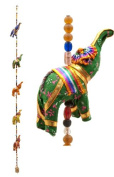 Indian Fabric Hanging Elephants String decoration