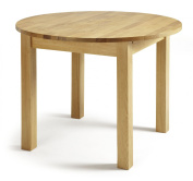 Serene Furnishings The Dining Collection Solid Oak Sutton Round Extendable Dining Table, 105 cm , Brown