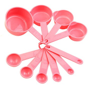 10Pcs Cute Baking Cup Kitchen Coffee Spoon Set Tablespoon Cooking Measuring Tool Pink