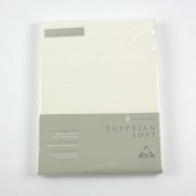 CL Home 200 Thread Count Cotton Egyptian Double Fitted Sheet, Cream