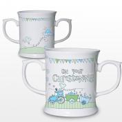 Whimsical Train Christening Loving Mug Keepsake Novelty Cup Present Gift Coffee Tea