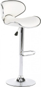 Displays2go Swivel Bar Stool with Back, White