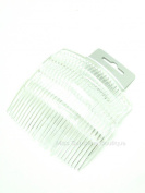 Pack of 4 Clear 9cm Plain Hair Combs Side Combs Slides