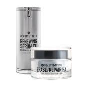 Beauty & Truth Age Restoring Bundle - Erase Repair HA & Renewing Serum CE