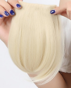 """Fashion 8""""(20cm) Bangs Clip in Hair Extensions Front Neat Bleach Blonde Bangs Fringe Clip in Hair Extensions One Piece Striaght Hairpiece Accessories"""