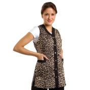 Sleeveless Leopard Salon Smock XXXL