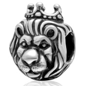 "SoulBeads Authentic 925 Sterling Silver ""King of Lion"" Charms Bead For European Bracelet"