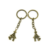 100 PCS Keyrings Keychains Key Ring Chains Tags Jewellery Findings Clasps Buckles Supplies Q6VD1 Doghouse
