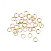 6mm Brass Double Ring - Gold