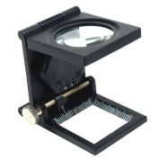 10X 30mm Foldable Lighted Magnifier / Loupe Jewellery Photo Sewing Thread Counter