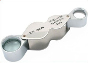 Clearance - 10x - 20x Triplet Jewellers Loupe / Foldable magnifier