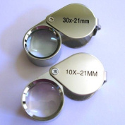 New 2pc Jewellers Eye Loupe Set 10X + 30X Magnifying Glass.
