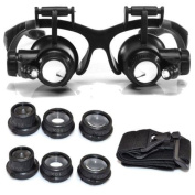 10/15/20/25X LED Eye Jeweller Watch Repair Magnifying Glasses Magnifier Loupe USA