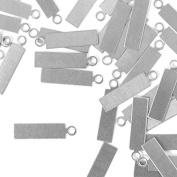ImpressArt, Rectangle Tag w/ Ring Stamping Blank, Alkeme, 1.6cm - 24 pc.