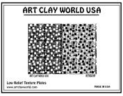 Art Clay World USA Low Relief Texture Retrochip - 1 Pc.