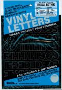 Permanent Adhesive Vinyl Letters & Numbers 2.5cm 183/Pkg-Black
