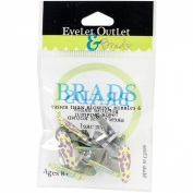 Eyelet Outlet Shape Brads 12/Pkg-Flip Flop 2