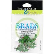 Eyelet Outlet Shape Brads 12/Pkg-Holly