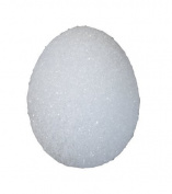 FloraCraft Styrofoam Eggs, 8cm -by-5.9cm White Egg, Duck, 4 Per Package by FloraCraft