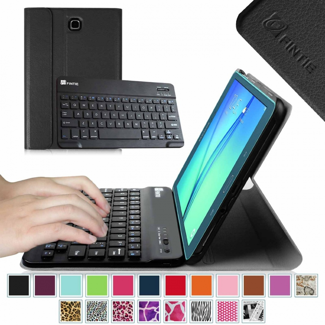 newest 2d9ee b5b29 Fintie Blade X1 Samsung Galaxy Tab A 8.0 Keyboard Case Cover - Slim Fit  Smart Shell Light Weight Stand with Magnetically Detachable Wireless  Bluetooth ...