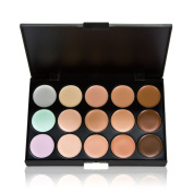 Anself 15 Colour Cream Camouflage Concealers Palette Eye Face Cosmetic Makeup Earth Tone
