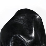 NAT Leathers 30cm x 50cm cutting of Black Moto Upholstery Glazed Cowhide Leather skin hide