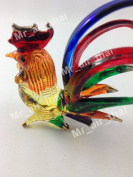 TINY CRYSTAL Chicken HAND BLOWN CLEAR GLASS ART Hen FIGURINE ANIMALS COLLECTION GLASS BLOWN FBA#02