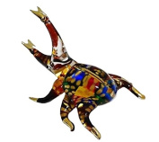 TINY CRYSTAL beetle HAND BLOWN CLEAR GLASS ART beetle FIGURINE ANIMALS COLLECTION GLASS BLOWN FBM