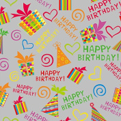 Birthday Celebration Wrapping Paper - 12m Roll