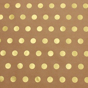 Golden Polka Dot Kraft Wrapping Paper - 12m Roll